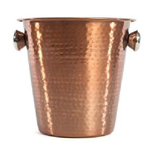 Copper Hammared Wine Bucket