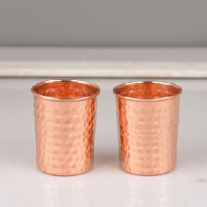 Hammared Copper Glass