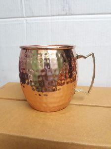 Round Hammared Copper Mug