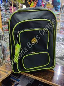 Black & Green School Bag