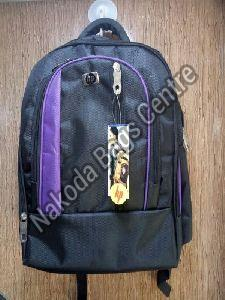 Black & Purple School Bag