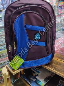 Brown & Blue School Bag