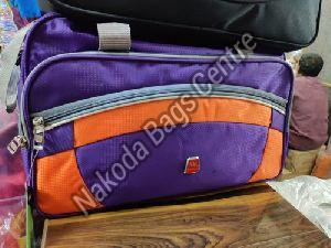 Purple & Orange Travel Bag