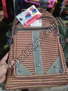 Striped School Bag