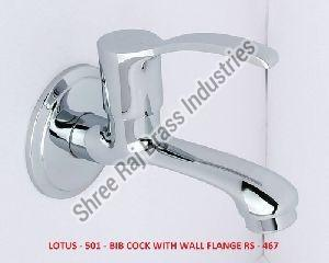 Lotus-501 Bib Cock Long Body with Wall Flange