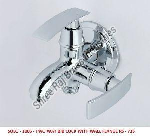 Solo-1005 Two Way Bib Cock  with Wall Flange