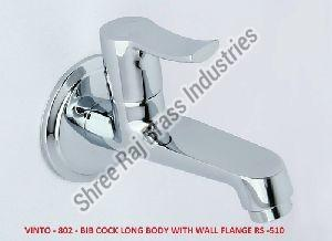 Vinto-802 Bib Cock Long Body with Wall Flange