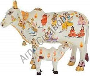 Kamdhenu Cow and Calf Statue