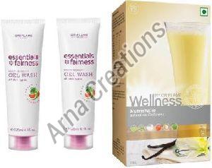 Oriflame Sweden Essentials Gel Wash and Oriflame Wellness Natural Vanilla Flavour Kit