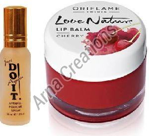 Oriflame Sweden Love Nature Lip Balm with Just Do It Perfume Combo