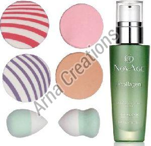 Oriflame Sweden NovAge Ecollagen Wrinkle Smoothing Serum with Puff Sponge Combo