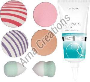 Oriflame Sweden Optimals Body Tummy and Bust Gel with Puff Sponge Combo