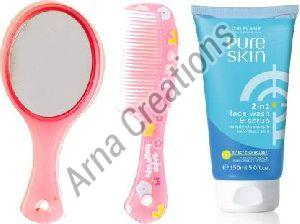 Oriflame Sweden Pure Skin Face Scrub with Mirror Comb Combo