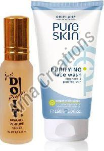Oriflame Sweden Pure Skin Purifying Face Wash with Just Doit Perfume Combo