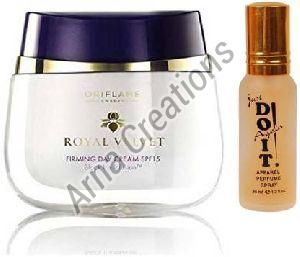 Oriflame Sweden Royal Velvet Firming Day Cream with Just Do It Perfume Combo