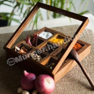 Wooden Spice Box