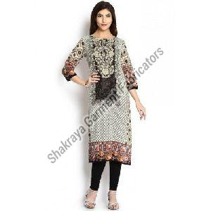 3/4th Sleeves Printed Kurti