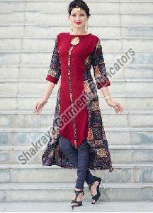 Printed High Low Kurti