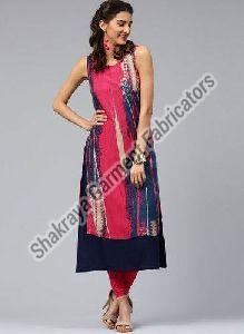Sleeveless Printed Long Kurti
