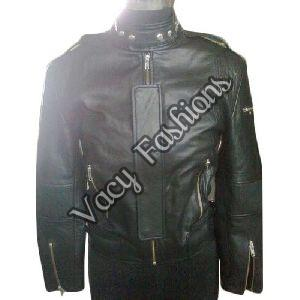 Ladies Designer Black Leather Jacket
