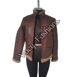 Ladies Designer Brown Leather Jacket