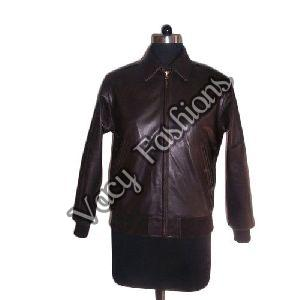 Ladies Zipper Designer Leather Jacket