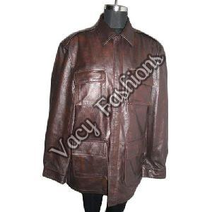 Mens Brown Goat Leather Jacket