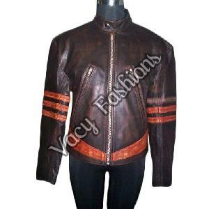 Mens Designer Brown Leather Jacket
