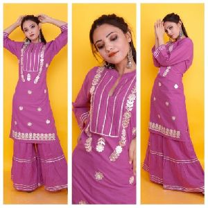 Designer Kurti With Sharara