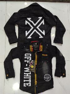 Boy Black Denim Shirt
