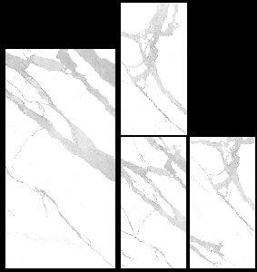 800X1600mm Bianco Statuario Venato Glossy Series Vitrified Slabs