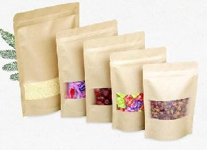 Kraft Paper Ziplock Bag