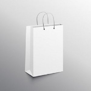 Plain White Paper Bag