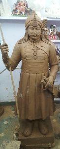 Clay Maharana Pratap Statue