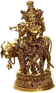 Metal Krishna Statue