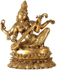 Metal Saraswati Maa Statue
