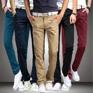 Mens Cotton Casual Pants