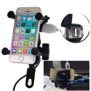 Two Wheeler Mobile Tripod with USB Charging Port