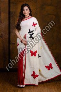 Applique Work Cotton Saree