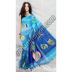 Designer Hand Painted Saree