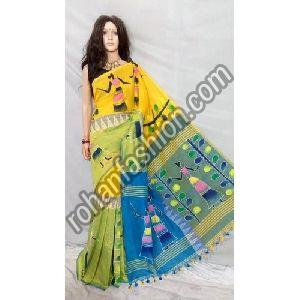 Hand Painted Handloom Saree