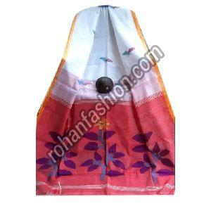 Handloom Jamdani Cotton Silk Saree