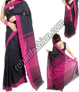 Plain Border Khadi Saree