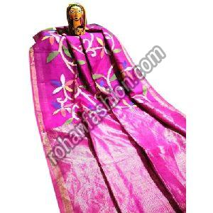Party Wear Matka Muslin Silk Jamdani Saree