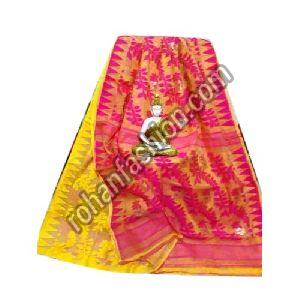 Soft Dhakai Jamdani Saree