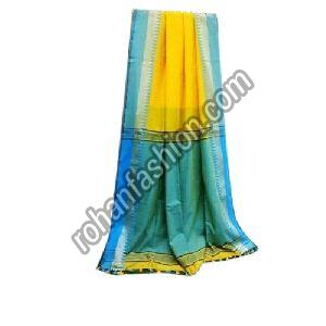 Temple Border Khadi Cotton Saree