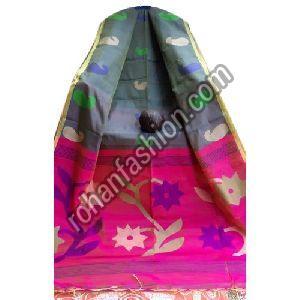 Traditional Jamdani Cotton Silk Saree