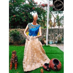 Chanderi Silk Skirt Top