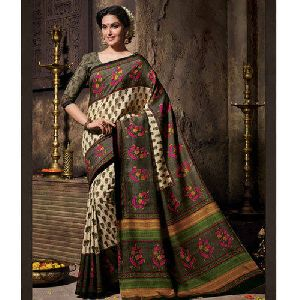 Half Tussar Silk Saree