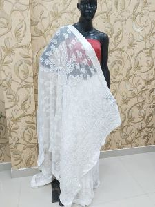 Designer Chikankari Saree
